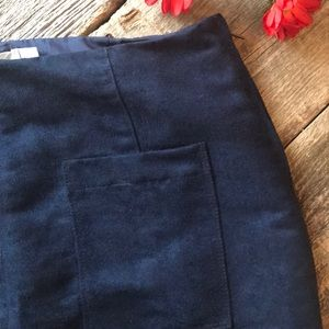 Old Navy Blue Micro Suede Skirt Size 4 Tall